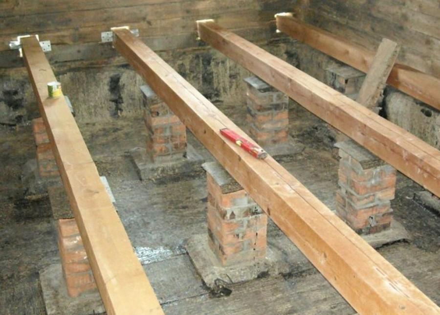 деревянные полы в частном доме по лагам своими руками