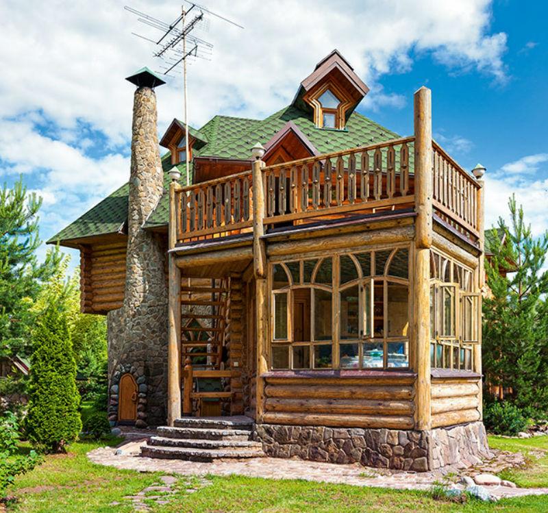 Деревянные дома фото