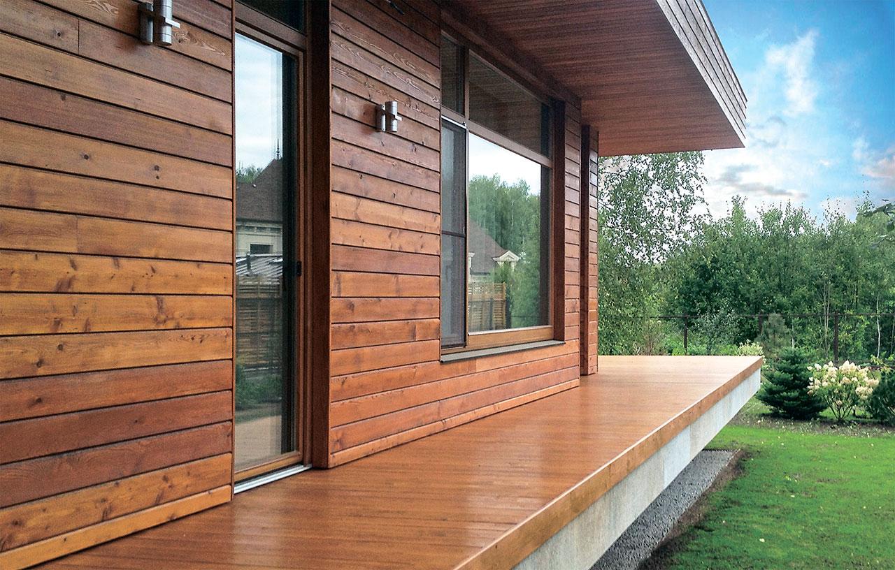 отделка деревянного дома снаружи варианты