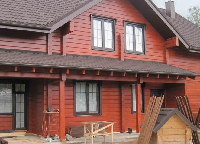 чем покрасить деревянный дом снаружи
